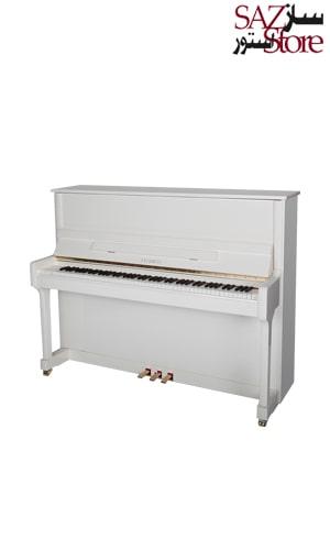 پیانو آکوستیک FEURICH 122 – UNIVERSAL White Polished - Brass