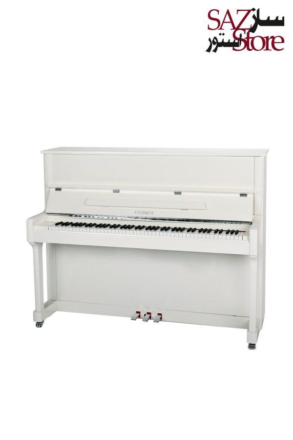 پیانو آکوستیک FEURICH 122 – UNIVERSAL White Polished - Chrome