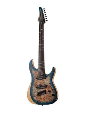 گیتار الکتریک Schecter Reaper-7 Multiscale Stain Sky Burst