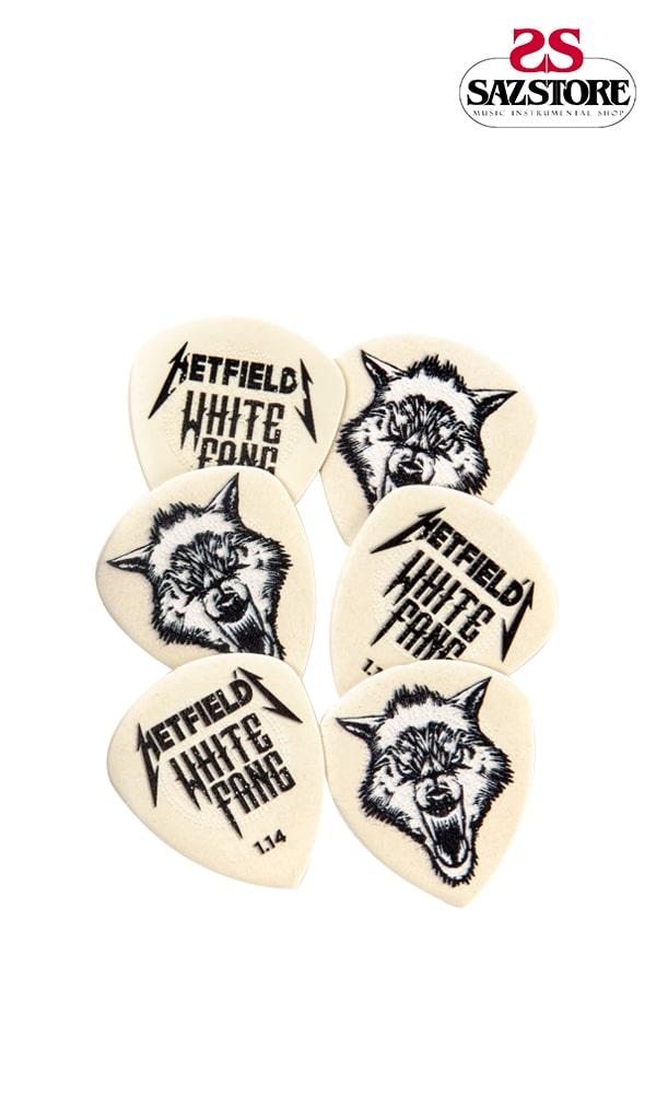 پک 6 تایی پیک گیتار Dunlop Hetfield's White Fang 1.14mm